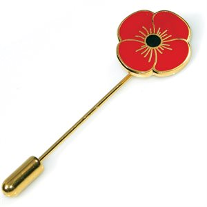 SCARF PIN WITH POPPY