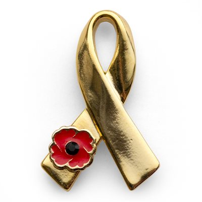 24K GOLD PLATED RIBBON PIN