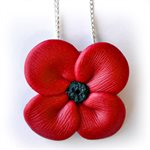 POPPY NECKLACE, CLAY