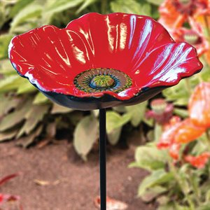 "POPPY BIRD FEEDER (5 ¾"" DIAMETER DISH)"