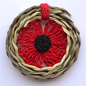 CROCHETED POPPY BROOCH