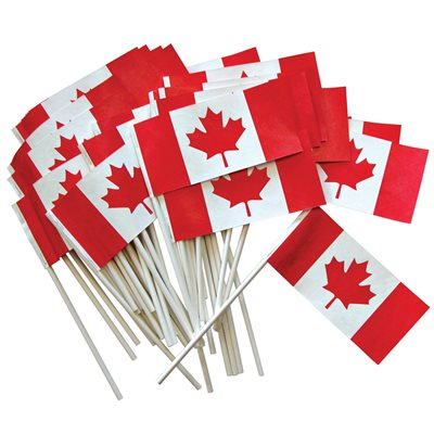 """FLAG CANADA 3"""" X 6"""" PACKAGE OF 50"""