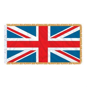 FLAG UNION JACK 6' X 3' SLEEVED & FRINGED