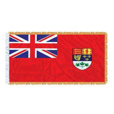 FLAG RED ENSIGN 6' X 3'  SLEEVED & FRINGED