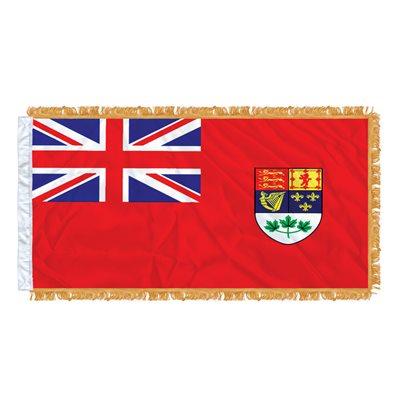 "FLAG RED ENSIGN 54"" X 27""  SLEEVED & FRINGED"