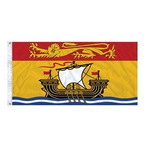 FLAG NEW BRUNSWICK 6' X 3' GROMMET (2)