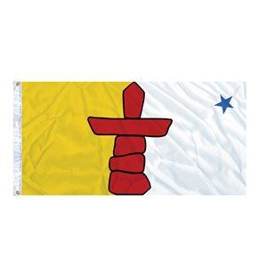 FLAG NUNAVUT  6' X 3' GROMMET (2)