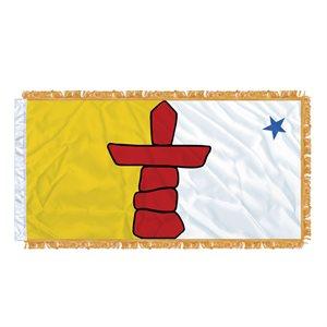 "FLAG NUNAVUT  54"" X 27"" SLEEVED & FRINGED"