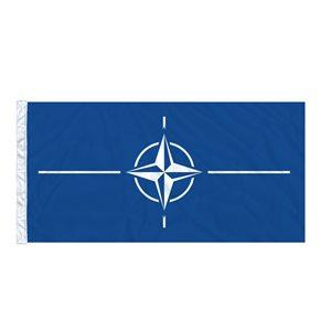 FLAG NATO 6'X3' SLEEVED