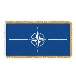 FLAG NATO 6' X 3' SLEEVED & FRINGED
