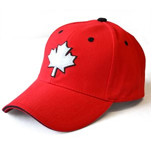 BALL CAP MAPLE LEAF RED