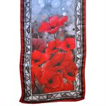 SCARF STAINED GLASS POPPIES