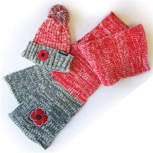 POPPY TOQUE &  SCARF SET
