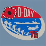 T-SHIRT D-DAY 75TH ANNIVERSARY SMALL