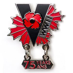 WWII 75th ANNIVERSARY LAPEL PIN
